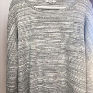 Athleta Long Sleeve Top In Light Grey